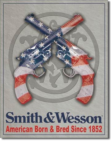 American Advertising Tin Sign - Western Wall Decor - Smith & Wesson