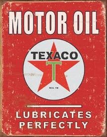 American Advertising Tin Sign - Vintage Wall Decor - Texaco