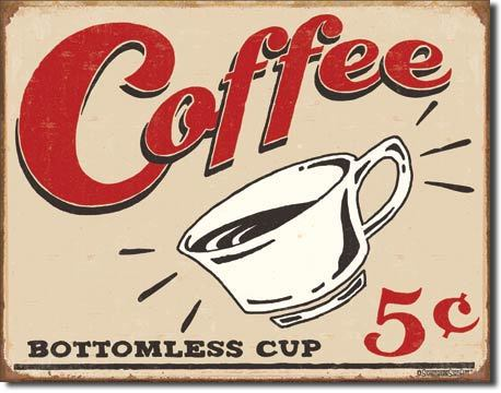 American Advertising Tin Sign - Vintage Wall Decor - Coffee