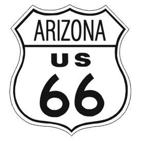 American Advertising Tin Sign - Vintage Wall Decor - Route 66 Tin Sign ARIZONA