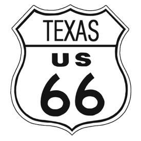 American Advertising Tin Sign - Vintage Wall Decor - Route 66 Tin Sign TEXAS