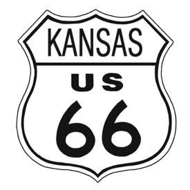 American Advertising Tin Sign - Vintage Wall Decor - Route 66 Tin Sign KANSAS
