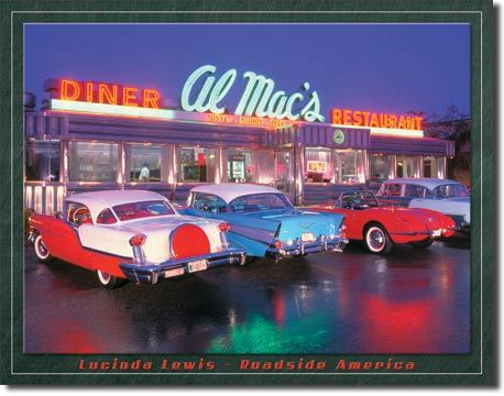 American Advertising Tin Sign - Vintage Wall Decor - Lewis Al Mac DIner