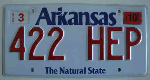 Genuine Licence Plate - USA - ARKANSAS