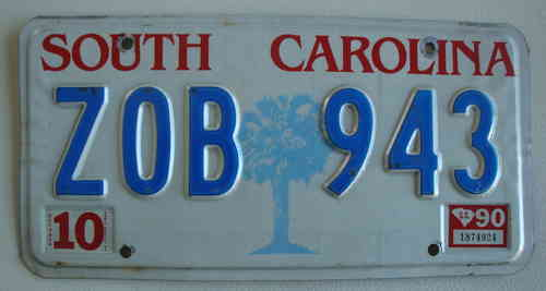 American Genuine Licence Plate - SOUTH CAROLINA