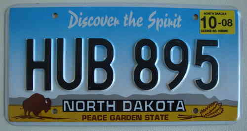 Genuine American Licence Plate - NORTH DAKOTA