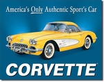 American Advertising Tin Sign - Vintage Wall Decor - Chevy'58 Vette