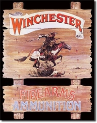 American Advertising Tin Sign - Vintage Wall Decor - Winchester Express Ride