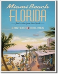 American Advertising Tin Sign - Vintage Wall Decor - Miami Beach
