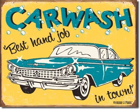 American Advertising Tin Sign - Vintage Wall Decor - Moore Carwash