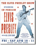 American Advertising Tin Sign - Vintage Wall Decor - Elvis Presley Show