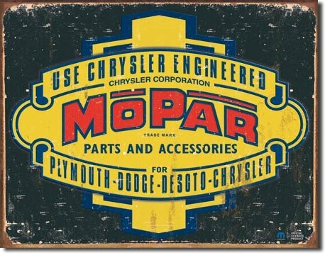 American Advertising Tin Sign - Vintage Wall Decor - Mopar Logo