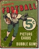 American Advertising Tin Sign - Vintage Wall Decor - Topps Football 1956