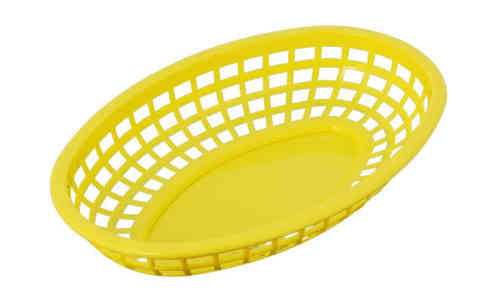 Retro tableware Basket, Oval Yellow