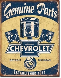 American Advertising Tin Sign - Vintage Wall Decor - Chevrolet