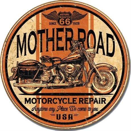 American Advertising Tin Sign - Vintage Wall Decor - Mother Road 66