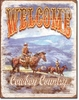 American Advertising Tin Sign - Western Wall Decor - Cowboy Country