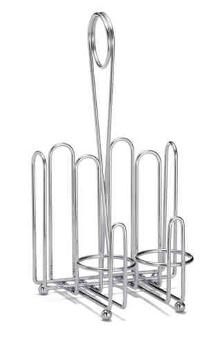 Combo Rack CHR - For Ketchup & Mustard (with salt & pepper dispensers) - Bulk 6 Items