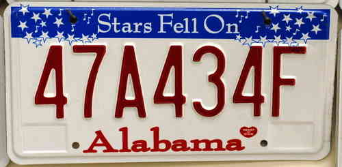 Genuine Licence Plate - USA - ALABAMA