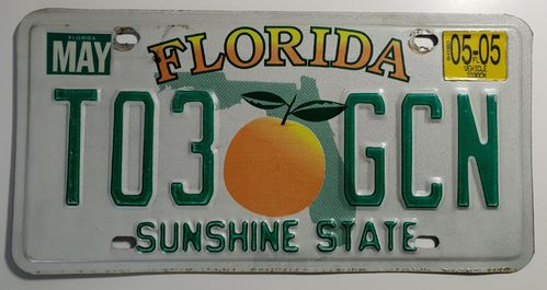 Genuine American Licence Plate - FLORIDA