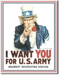 American Advertising Tin Sign - Vintage Wall Decor - I Want ou for Us Army