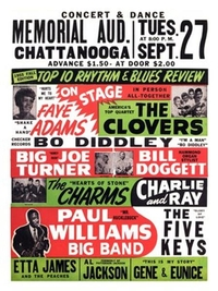 Poster reproduction Concert Rhythm & Blues - 1955 Fall Edition