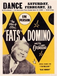Poster reproduction affiche de Concert Fats Domino in Person