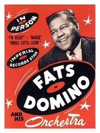 Poster reproduction affiche de Concert Fats Domino in Person (Red)