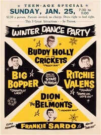 Poster reproduction affiche de Concert Buddy Holly and the Crickets