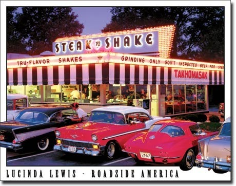 American Advertising Tin Sign - Vintage Wall Decor - Steak n' Shake