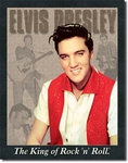 American Advertising Tin Sign - Vintage Wall Decor - Elvis Presley
