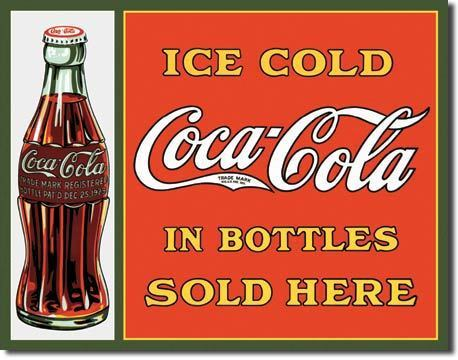 American Advertising Tin Sign - Vintage Wall Decor - Coca Cola