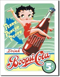 plaque de décoration américaine - Betty Boop Boopsie Cola