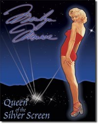 Plaque publicitaire americaine - Marilyn Queen of Screen