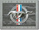 American Advertising Tin Sign - Vintage Wall Decor - Mustang 35th Anniversary