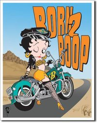 American Advertising Tin Sign - Vintage Wall Decor - Betty Boop - Born 2 Boop