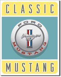 American Advertising Tin Sign - Vintage Wall Decor - Ford Mustang