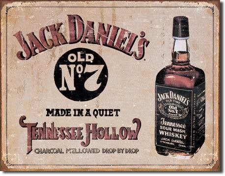 American Advertising Tin Sign - Vintage Wall Decor - Jack Daniel's Tennessee Hollow