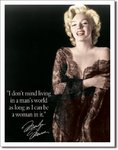 American Advertising Tin Sign - Vintage Wall Decor - Marilyn Man's World