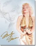 American Advertising Tin Sign - Vintage Wall Decor - Monroe Gold Dress