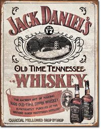 American Advertising Tin Sign - Vintage Wall Decor - Jack Daniel's Sippin Whiskey