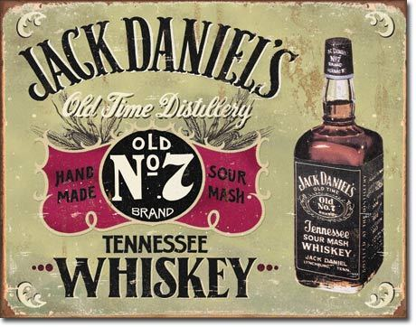 American Advertising Tin Sign - Vintage Wall Decor - Jack Daniels hand made