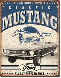 American Advertising Tin Sign - Vintage Wall Decor - Classic Mustang