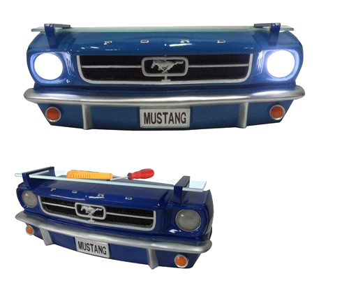 Ford 1964 1/2 Mustang 3-D Front Wall Shelf (w/ lights)