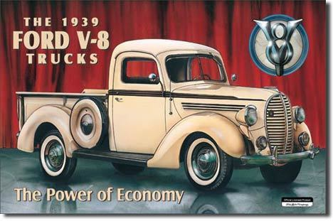 Publicité ancienne Usa - Ford Pick Up 1939
