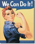 American Advertising Tin Sign - Vintage Wall Decor - Rosie the Rivetor