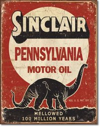 American Advertising Tin Sign - Vintage Wall Decor -  Sinclair