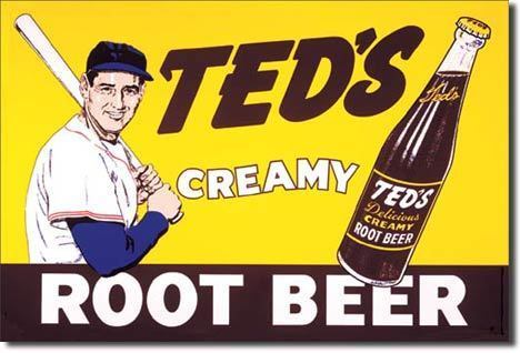 American Advertising Tin Sign - Vintage Wall Decor - Ted's Creamy Root Beer
