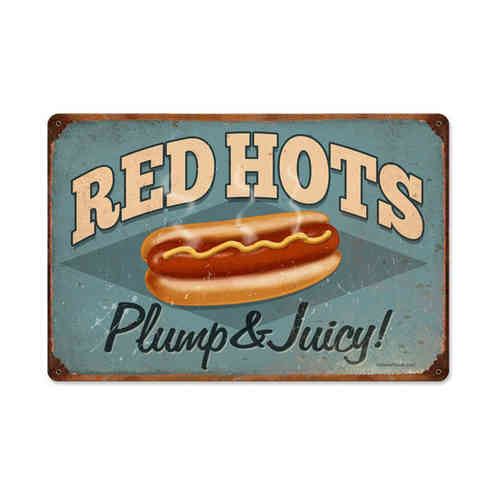 American Retro Tin Sign - Red Hots