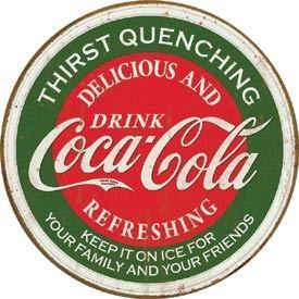 American Advertising Tin Sign - Vintage Wall Decor  - COKE - Thirst Quenching